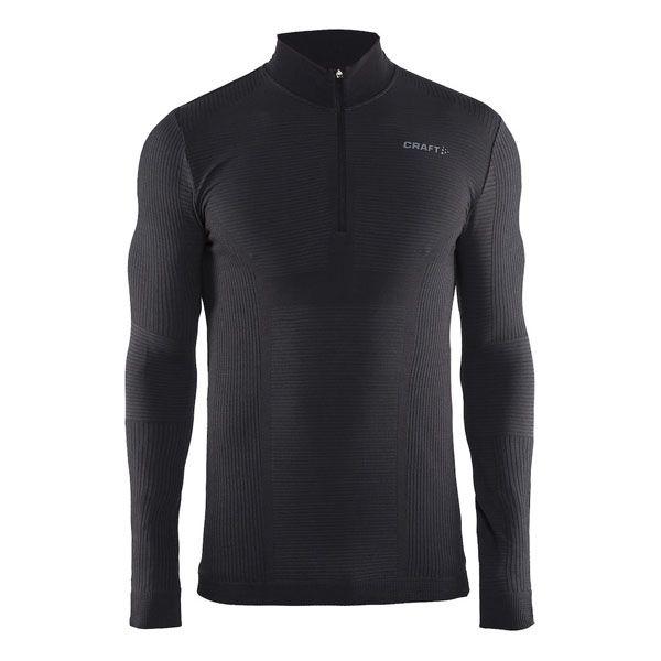 triko wool comfort zip black L