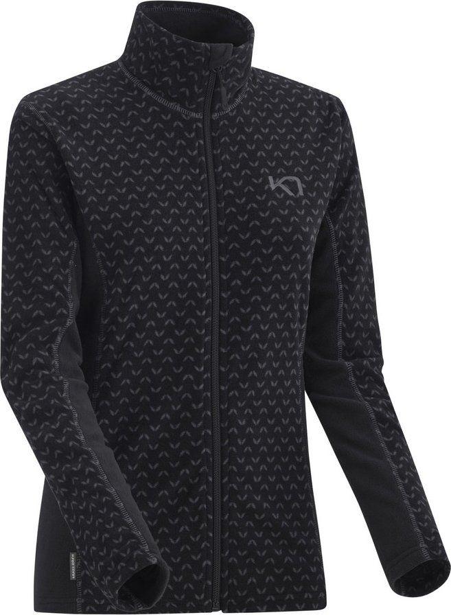 mikina lus fleece zip black XS